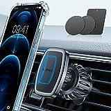 LISEN Support Téléphone Voiture, Clip Améliorer 2021 [6 Super Aimants Puissants] Support Aimant Telephone Voiture [Case Friendly] Support Magnetique Porte...