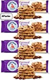 Voortman Bakery Oatmeal Raisin Cookies - Delicious Baked Oatmeal Cookies made with Real Whole Grain Oats and Raisins (Pack of 4)