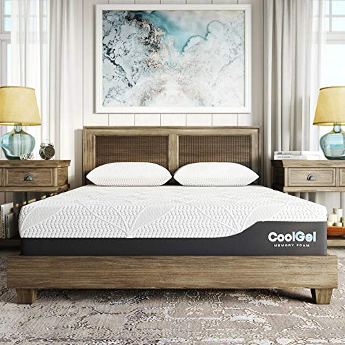 Classic Brands Cool Gel Chill Memory Foam 12-Inch Mattress CertiPUR-US Certified   Bed-in-a-Box, Queen