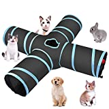 Hothuimin 4 Canaux Chat Tunnel, Tunnel Jouet Pliable pour�...