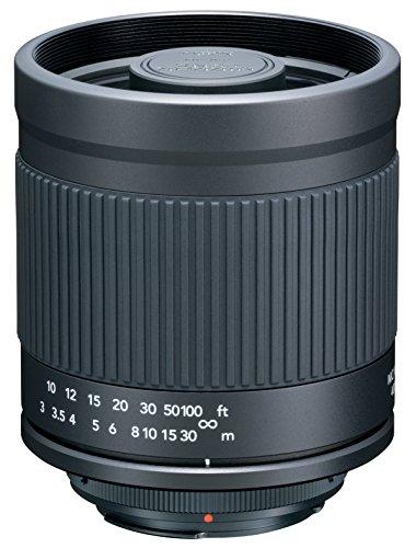 Kenko 望遠レンズ ミラーレンズ 400mm F8 マニュアルフォーカス フード付 キヤノンEOS用 ブラック フィルム/デジタル一眼対応