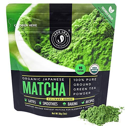 Jade Leaf Organic Matcha Green Tea Powder - Authentic Japanese Origin - Premium Second Harvest Culinary Grade (1.06 Ounce)