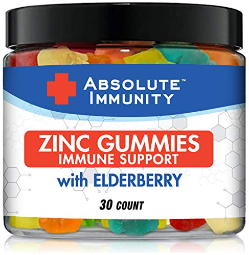 Absolute Immunity- ZINC and Elderberry Gummies - Immune System Health - Adults and Kids 30ct 1