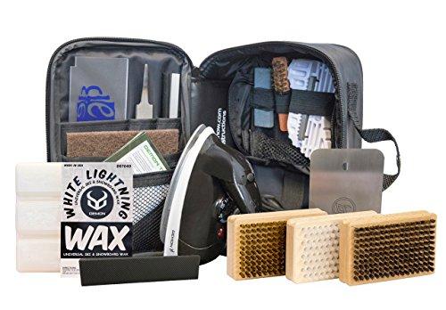 Demon Complete Ski Tune Kit with Wax and Brush Kit-...