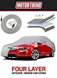 Motor Trend 4-Layer 4-Season Car Cover Waterproof All Weather for Heavy Duty Use for Sedan Coupes Up to 228'