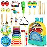 Jojoin 24 Pcs Juguetes Instrumentos Musicales, 12 Tipos de Juguetes de Instrumentos, Juguete Música Instrumento, Educativo Musical para Bebés, Regalos para Niños de Navidad y Cumpleaños etc.