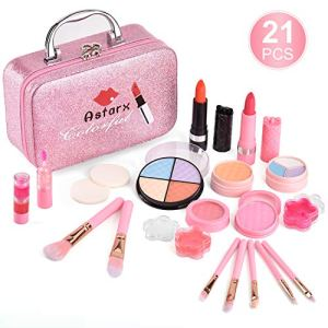AstarX 23Pcs Makeup Toys for Kids,Real Washable Cosmetics Safe & Non-Toxic Beauty Set for Party Game Halloween Christmas… 4
