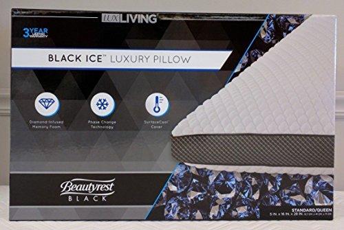 "Lux-Living Beautyrest ""Black Ice"" Memory Foam Pillow•Standard/Queen"