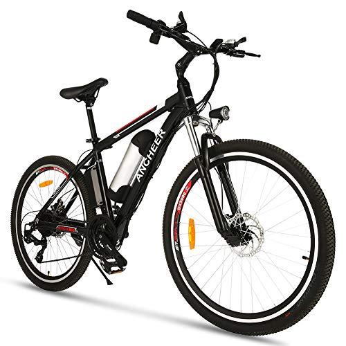 ANCHEER Ebike pour Adultes, VTT électrique 26''/27,5 '', vélo de Montagne e Bike avec Moteur 250W 36V/8Ah 48V/10Ah Batterie Lithium-ION, vélos électriques de Ville de vélo pour Adultes