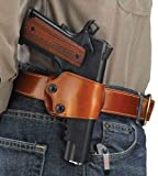 Galco Yaqui Slide Belt Holster for 1911 3-Inch-5-Inch Colt, Kimber, para, Springfield, Kahr, Walther P22 (Tan, Left-Hand)