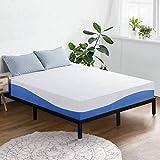 Olee Sleep 10 Inch Gel Infused Layer Top Memory Foam Mattress, King, Blue