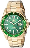 Invicta Men's Pro Diver Quartz Watch with Stainless Steel Strap, Gold, 22 (Model: 30027)