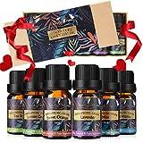 Oli Essenziali per Diffusori Top 6 Set - Aromaterapia Olio Essenziale Biologici Puri 100%, SPA, Massaggio, bagno Profumato, Miglior Regalo