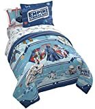Jay Franco Star Wars Empire 40th Anniversary 5 Piece Twin Bed Set - Includes Reversible Comforter & Sheet Set Bedding - Super Soft Fade Resistant Microfiber - (Official Star Wars Product)