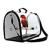 Transporteur d'oiseaux léger, sac à main respirant transparent...
