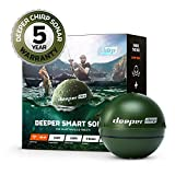 Deeper Chirp Smart Sonar Castable, Portable Fish Finder and Depth Finder, Onshore or Offshore, Freshwater or Saltwater, Military Green (DEE-ITGAM0631)