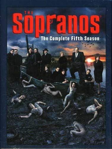 The cover of The Sopranos season five DVD set.