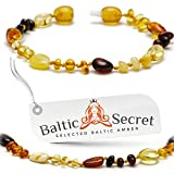 Baltic Amber Beads - Bracelet or Anklet - for Boys and Girls - Certified Baltic Amber - MLT.P-mix13.5