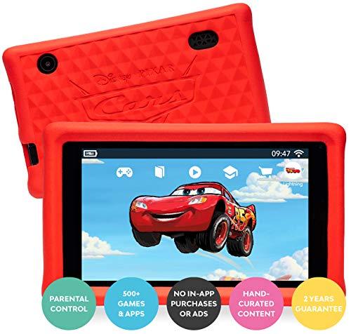 "Pebble Gear Disney Pixar Cars Kids Tablet Kinder Tablet 7"" mit kindgerechter Hülle / stoßfester Bumper, elterliche Kontrolle, Blaulichtfilter, 500+ Spiele, Apps, E-Books, Wi-Fi, 16 GB"