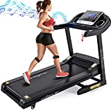 DR.GYMLEE Folding Treadmill 300 LB Capacity for Home, 15% Auto Incline 3.5 HP Running Machine& Strong Shock Absorption, Easy Assembly & Space Saver for Home Office Workout…