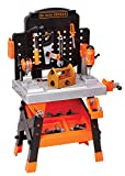 BLACK + DECKER Power Tool Workshop - Play Toy Workbench for Kids with Drill, Miter Saw and Working Flashlight - Build Your Own Tool Box – 75 Realistic Toy Tools and Accessories [Amazon Exclusive]
