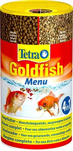 Tetra Goldfish Mangime per Pesci Menu 250ml-Alimenti, Multicolore, 250 ml (Confezione da 1), 250 unit