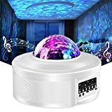 Star Projector Night Light Projector with LED Galaxy Ocean Wave Projector Bluetooth Music...