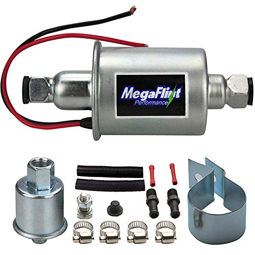 Megaflint+ E8012S 12V Universal Electric Fuel Pump Low Pressure 5-9 PSI For Gas Diesel Inline HEP-02A