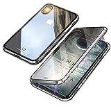 MQman 全面保護 前面ガラスプレート+背面ガラスプレート iphone XR ケース iphoneXr アルミバ……