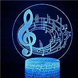 Instrumento musical nota banda de música orquesta guitarra Michael Jackson 3D LED luz nocturna decoración Navidad niños regalo lámpara de mesa
