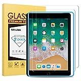 SPARIN Verre Trempé (Gabarit Offert) Compatible avec iPad 9,7 (modèle 2018 et...