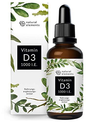 Vitamin D3 - Mehrfacher Sieger 2019/2020* - Laborgeprüfte 1000 I.E. pro Tropfen - 50ml (1750 Tropfen) - In MCT-Öl aus Kokos - Hochdosiert, flüssig