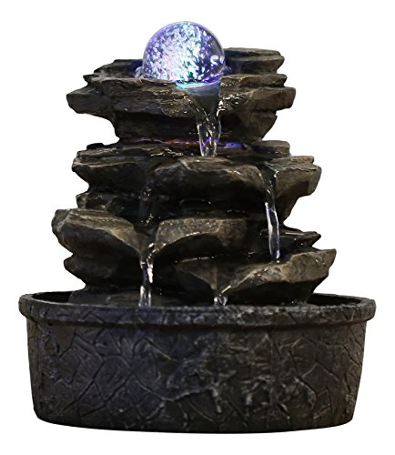 Zen'Light Little Rock Brunnen aus Polyresin,...