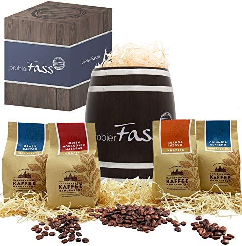 Kaffee Geschenk Entdeckungsreise 4 verschiedener Anbauländer 4 x 80g ganze Bohne in einem...