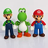 By channeltoys - Lot de 3pcs Figurine Super Mario - 11 / 12cm - Yoshi + Mario +...