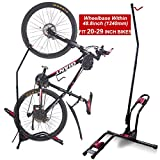 Dinsam Top Vertical Bike Stand for Floor, Indoor Bike Mount Rack - Fits Nearly All Bikes & Frees 4 Feet of Floor Space