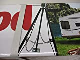 Ultra-Fab Products 5th Wheel Tripod Jack Camper Trailer RV King Pin Stabilizer Locking Jack Stand