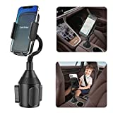Lorima Car Cup Holder Phone Mount with A Long Flexible Neck for Cell Phones iPhone 11/11 Pro/11 Pro Max/XS/Max/X/8/7 Plus/Galaxy