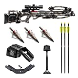 TenPoint Titan M1 370 FPS Crossbow with ProView 3 Scope and ACUdraw Cocking Kit with Three NAP Hunting Broadheads (4 Items)