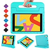 BMOUO Kids Case for iPad 10.2 2019, iPad 10.2 Case, iPad 7th Generation Case, Shock Proof Light Weight Convertible Handle Stand Kids Case for Apple iPad 10.2 inch 2019, Turquoise