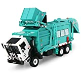 FUBARBAR Garbage Truck Toy Model 1:43 Scale Metal Diecast Recycling Clean Trash Garbage Rubbish Waste Transport Truck Alloy Model Car Toy with Garbage Cans Kids Birthday Party Supplies