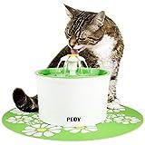 PEDY Fontaine à Fleur pour Chat 1,6 L, Distributeur de Nourriture Eau...