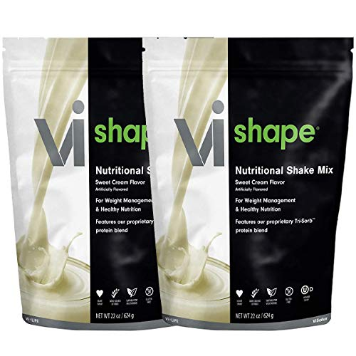 ViSalus Vi Shape Nutritional Shake Mix Sweet Cream Flavor | 2 Bags (22oz each / 48 total servings) 1