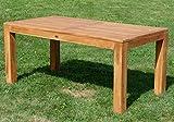 AS-S Wuchtiger Teak Bigfuss Gartentisch 180×90 Holztisch Teaktisch Garten Tisch Holz - 3