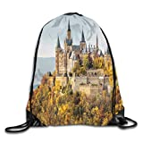 PmseK Mochila con Cordón,Bolsas de Gimnasia, Drawstring Bag Castle In Autumn Beauty Rucksack For Gym Hiking Travel