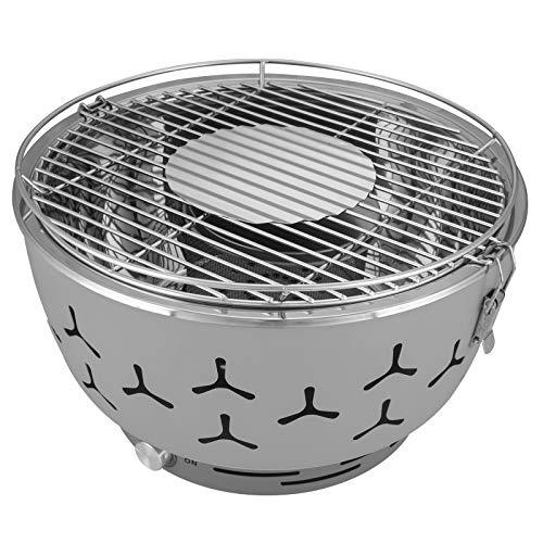 eSituro Barbecue Portatile a Carbone da Tavola Griglia con Ventola a Batteria BBQ per Campeggio...