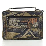 """Camouflage Poly-Canvas Bible / Book Cover w/""""Stand Firm"""" Tag - 1 Corinthians 16:13"""