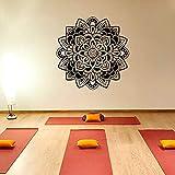 Ajcwhml Estilo Mandala Flor Calcomanía de Pared Yoga Lotus Etiqueta de Vinilo Decoración Interior del hogar Patrón de Estudio de Yoga - 74X74CM-74X74CM