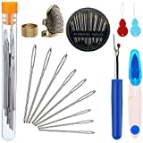 Zhanmai 46 Pieces Sewing Tools Set Includes Sewing Thimble Finger...