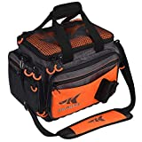 KastKing Fishing Tackle Bags, Fishing Gear Bag, Saltwater Resistant Tackle Bag, Large Waterproof Fishing Bag,Medium-Hoss(Without Trays, 15x11x10.25 Inches), Orange